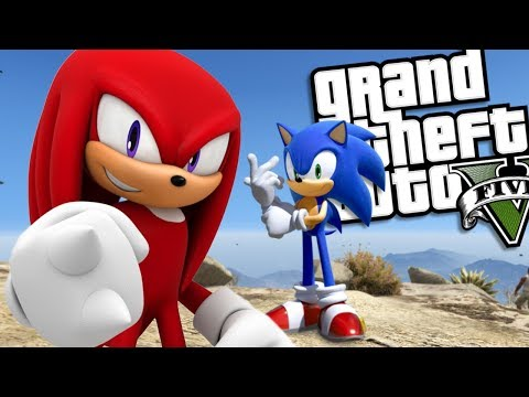SONIC THE HEDGEHOG brings back KNUCKLES MOD (GTA 5 PC Mods Gameplay)