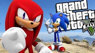 SONIC THE HEDGEHOG brings back KNUCKLES MOD (GTA 5 PC Mods Gameplay)