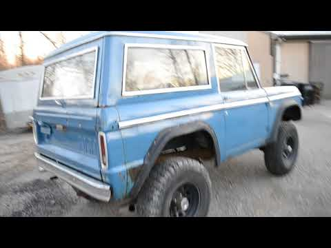 FORD BRONCO  SPD PS SOLID WESTERN BRONCO FROM UTAH RUNS DRIVES GREAT OLDER PATINA PAINT