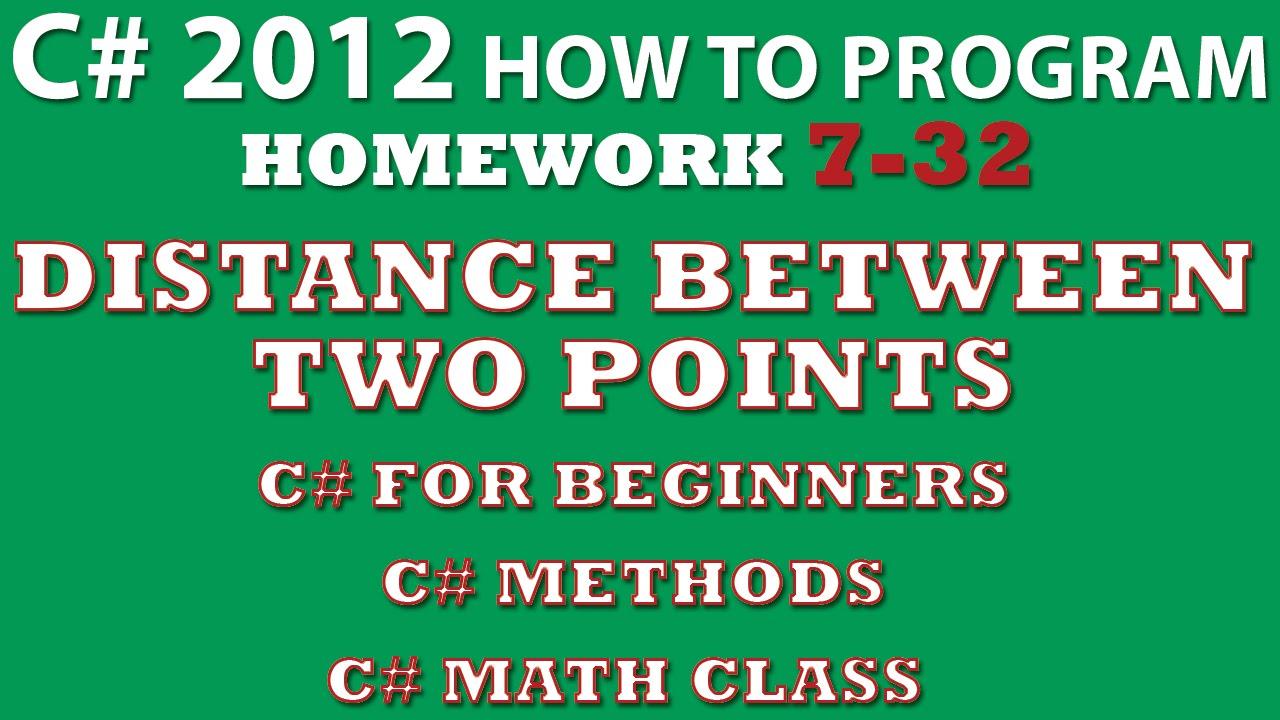 C Programming Challenge 7 32 Distance Between Two Points Methods