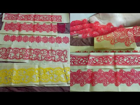 How to make Edible lace in detail video |easy recipe||cake lace tutorial|