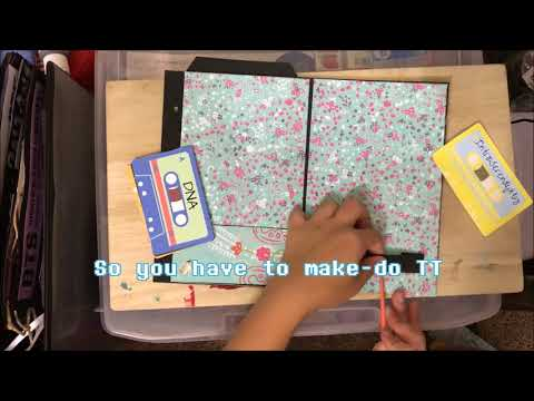 Sample Page Tutorial for BTS themed Mini Scrapbook