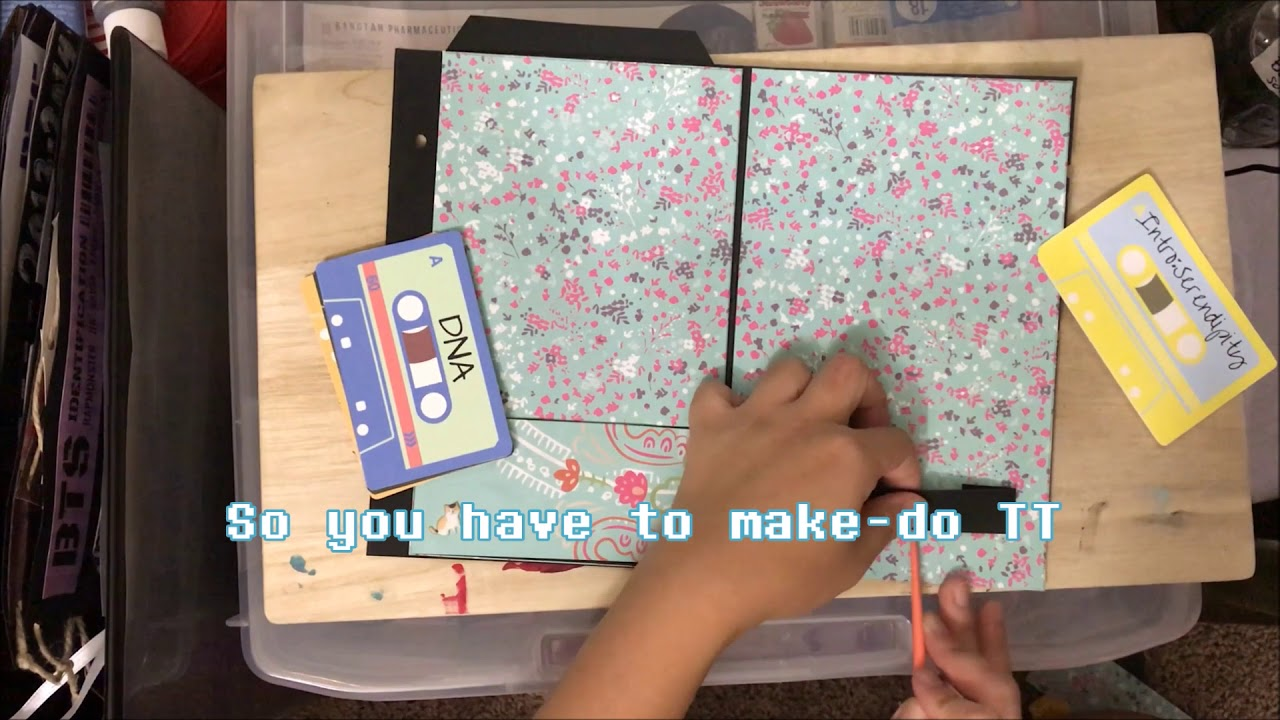Sample Page Tutorial for BTS themed Mini Scrapbook   YouTube Sample Page Tutorial for BTS themed Mini Scrapbook