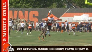 2 Minute Drill: OBJ returns, makes highlight plays on day 11 | Cleveland Browns