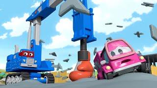 Carl, der Super-Truck ist Englisch ⍟ Der swing hammer truck   Cartoons für Kinder
