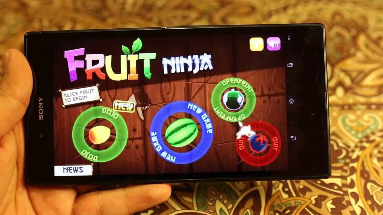 sony xperia z fruit ninja