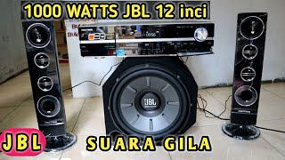 Terbaru Bass test Xtreme ..!! JBL 12 inch Subwoofer 1000 WATTS GILA BENER ( Power Polytron BigBand )