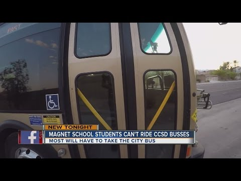 Magnet school students can't ride CCSD busses