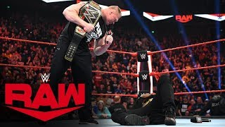 Brock Lesnar sends R-Truth to Suplex City: Raw, Jan. 13, 2020