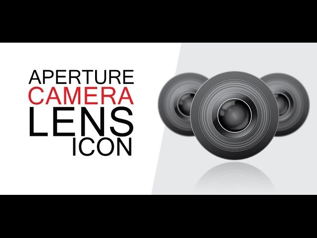 CAMERA LENS icon - Adobe Illustrator cs6