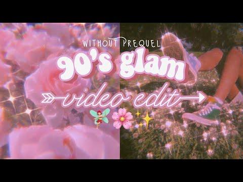 90's glam video edit 🧸// как я обрабатываю видео на телефоне// без Prequel🍥