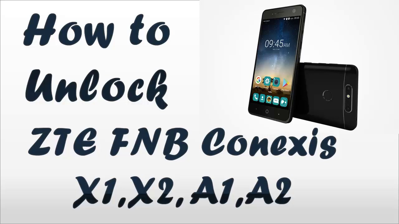How to unlock ZTE FNB Conexis x1 x2 a1 a2 by code - All carrier