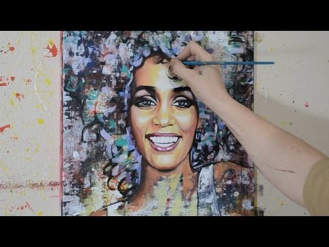 Painting a Portrait of Whitney Houston
