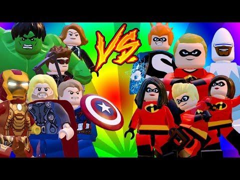 VINGADORES vs OS INCRÍVEIS - LEGO Marvel