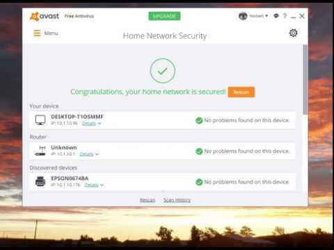 Avast Free Home Network Security Scan