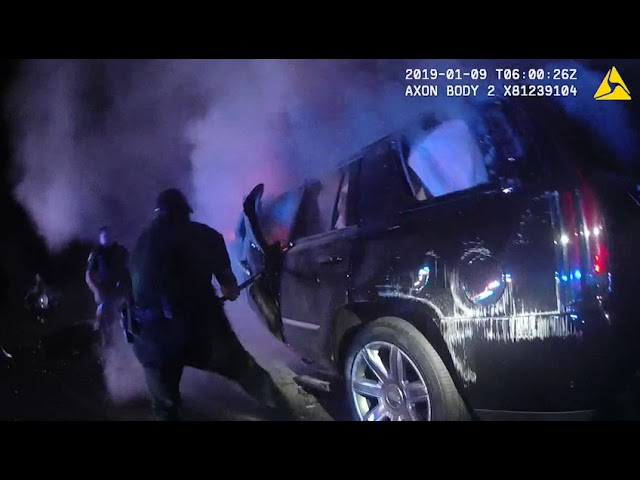 Dramatic video shows fiery aftermath of deadly wrong-way crash in Flor |