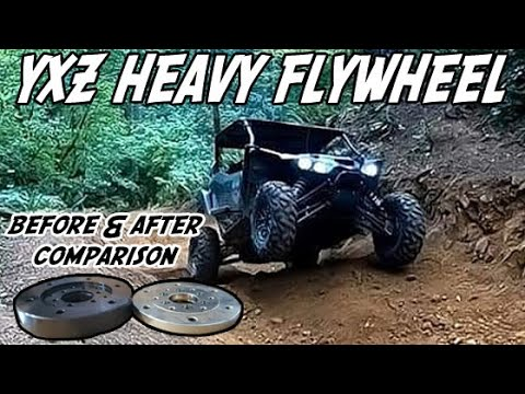 2019 Yamaha YXZ100R Heavy Flywheel Install and Review l Yamaha YXZ Flywheel Before and After | UTV