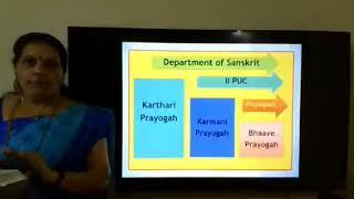 II PUC | SANSKRIT |  Grammar  Prayogaha - 01