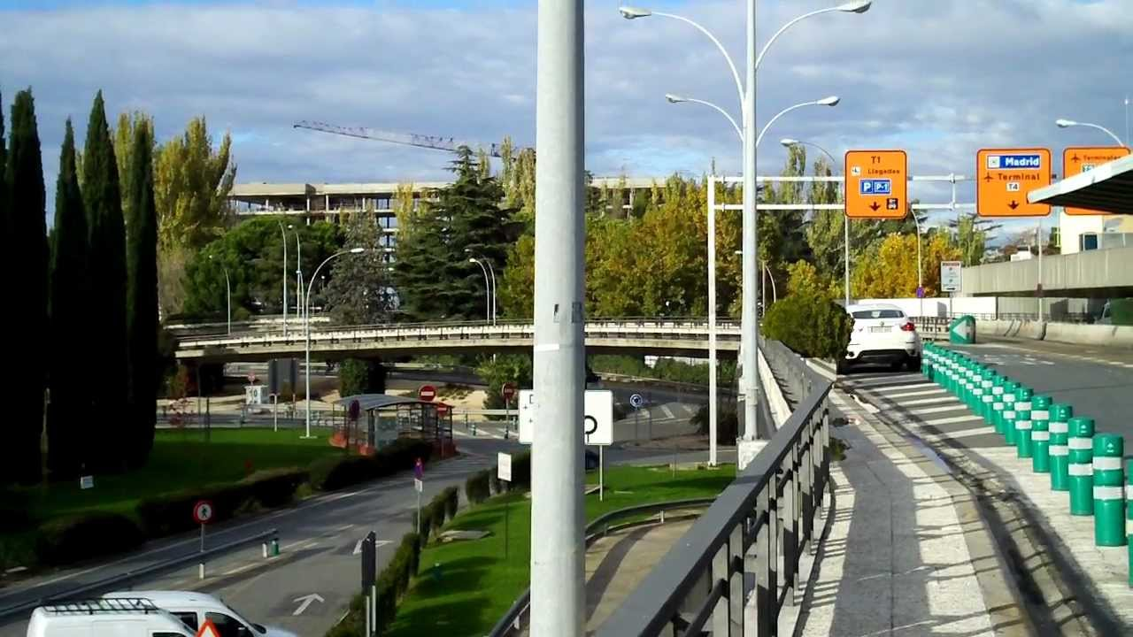 Madrid Barajas Airport T1 bus stops - YouTube