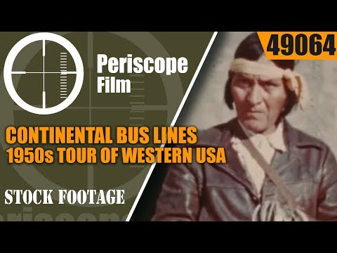 CONTINENTAL BUS LINES 1950s TOUR OF WESTERN USA 49064