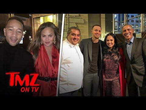 Barack Obama Eats at Ayesha Curry's Restaurant with Steph, Chrissy & John Legend | TMZ TV