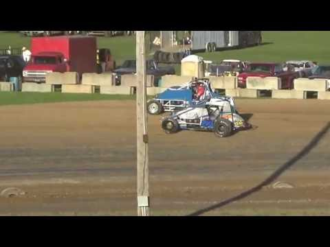 Traditional Sprints Heat Race #2 at Great Lakes Nationals, Crystal Motor Speedway on 09-17-16.
