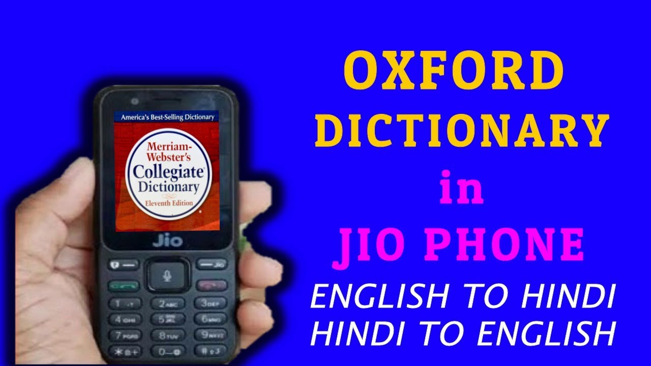 Oxford Dictionary in JIO PHONE|| English to hindi|| Hindi to english