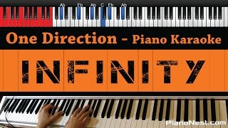 One Direction - Infinity - HIGHER Key (Piano Karaoke / Sing Along / Cover with Lyrics)
