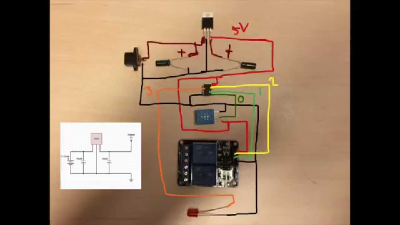 Explanation of Simple Power adapter from 9V to 5V using 7805 used in EP4