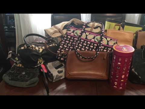 Thrift Garage sale Haul Gucci Nail polish Coach Dooney Handbags!!!