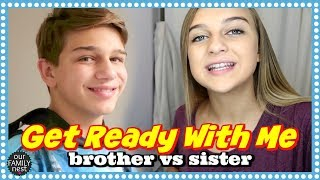 GET READY WITH ME SCHOOL EDITION ~ BROTHER VS SISTER