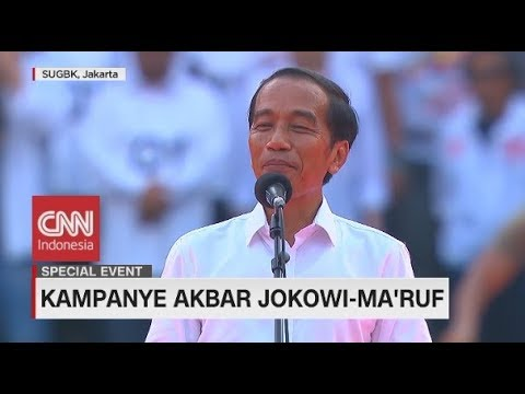 Meriah! Kampanye Akbar Jokowi-Maruf di GBK I Live Event