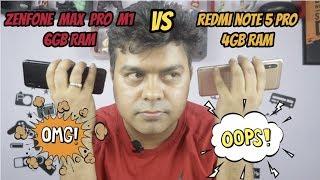 New Zenfone Max Pro M1 6GB Ka Asli Sach, Comparison With Mi Note 5 Pro, 4 GB Max Pro M1
