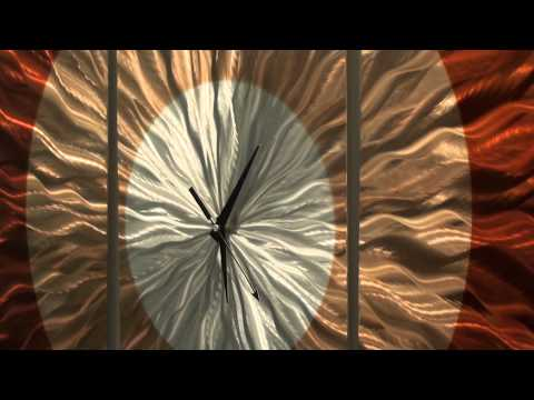 Afterglow Clock - Fine Abstract Metal Modern Clock Art by Jon Allen