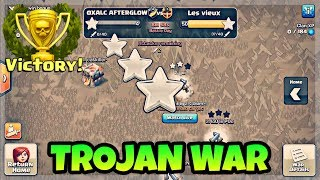 TROJAN WAR | ALL ATTACKS IN LAST 10 MINUTES OF CLAN WAR | CLASH OF CLANS