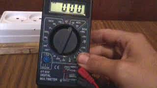 Обзор цыфрового тестера DT 832