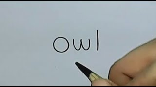 Pk How to turn Words Owl Into a Cartoon Owl. (Wordtoons)