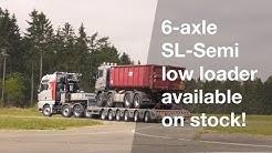 Broshuis stock trailer: 6-axle SL-Semi low loader