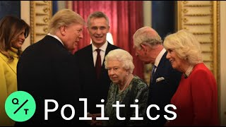 Queen Elizabeth Ii, Prince Charles Host Nato Leaders At Buckingham Palace Banquet