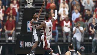 NBA 2015 - San Antonio Spurs vs Miami Heat - 3rd Qrt 2 - NBA LIVE 15 PS4 - HD