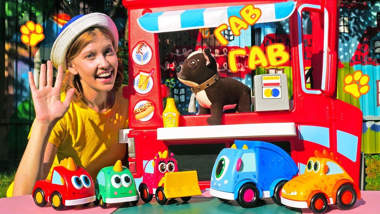 Игры для детей на детской площадке в машинки Мокас - Как мама Шоколадки