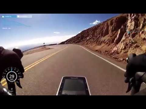 Road bike descent of Pikes Peak