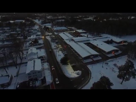 Flying over New Hampshire Voting Station, Ledge Street School