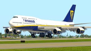 Boeing 747 RyanAir Landing Only In X-Plane 11 (HD)