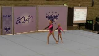 BOAC 2016   140   036   Women's Pair   Age Group   Balance   FIN   Tampereen Voimistelijat FIN, Anna