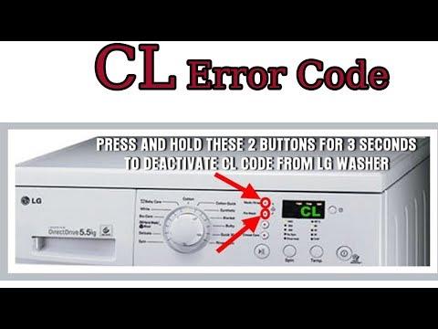 CL error code, cl error code, LG washing machine error code