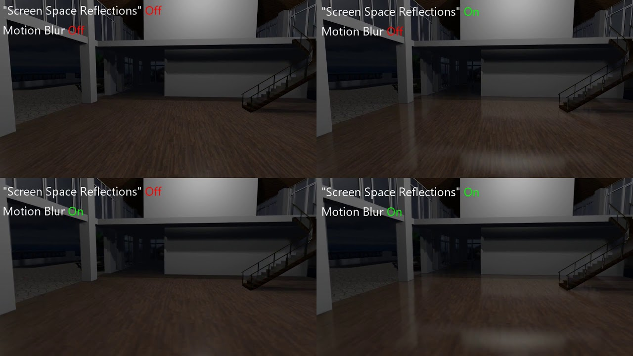 Image result for screen space reflection on vs off