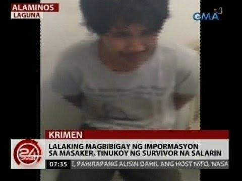 Download 24 Oras: Lalaking magbibigay ng impormasyon sa masaker, tinukoy ng survivor na salarin