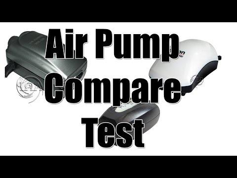 Aquarium Air Pump Comparison Test