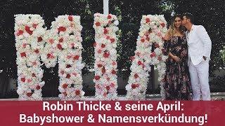 Robin Thicke & seine April: Babyshower & Namensverkündung!   CELEBRITIES und GOSSIP